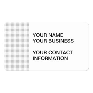 Modelo de la guinga del blanco gris tarjetas personales