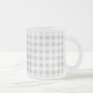 Modelo de la guinga del blanco gris tazas de café