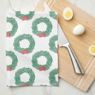 Modelo de la guirnalda del navidad toalla de cocina