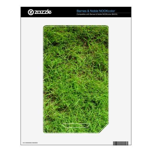 Modelo de la hierba verde calcomanías para NOOK color