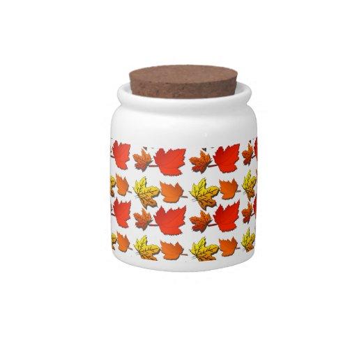 Modelo de la hoja de la caída jarra para caramelo