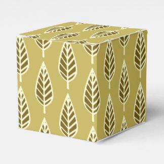 Modelo de la hoja de la haya - moreno y marrón del paquetes de regalo