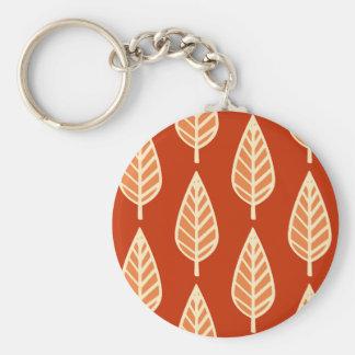 Modelo de la hoja de la haya - sombras de la llavero redondo tipo pin