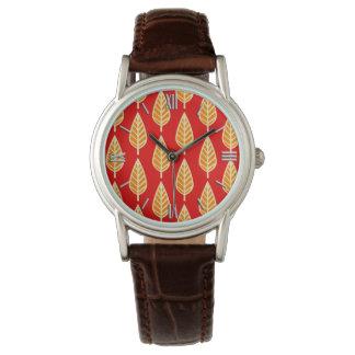 Modelo de la hoja de la haya - sombras de la relojes de mano