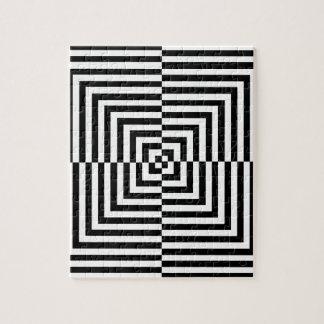 Modelo de la ilusión óptica puzzle