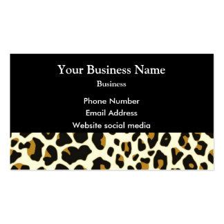 Modelo de la impresión de la moda del leopardo en tarjetas de visita