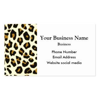 Modelo de la impresión de la moda del leopardo tarjetas de visita