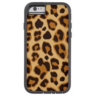 Modelo de la impresión de la piel del leopardo funda de iPhone 6 tough xtreme