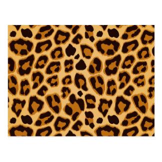 Modelo de la impresión de la piel del leopardo postales