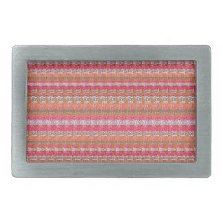 Modelo de la impresión de la tela de seda de hebillas de cinturón rectangulares