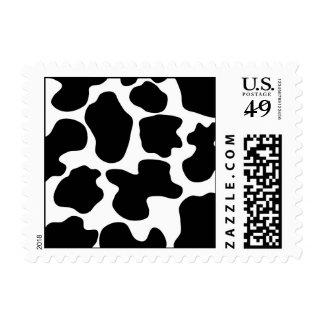 Modelo de la impresión de la vaca sellos postales