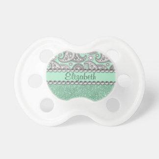 Modelo de la impresión del diamante artificial de chupetes de bebé