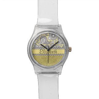 Modelo de la impresión del diamante artificial de relojes de mano