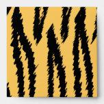 Modelo de la impresión del tigre. Naranja y negro