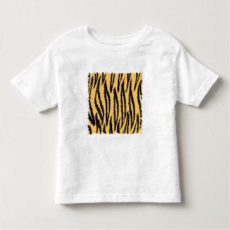 Modelo de la impresión del tigre. Naranja y negro Playeras