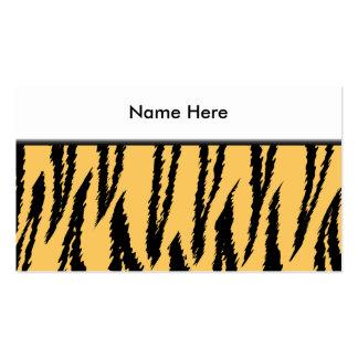 Modelo de la impresión del tigre. Naranja y negro Tarjetas De Visita