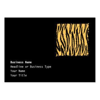 Modelo de la impresión del tigre. Naranja y negro Tarjetas De Visita Grandes