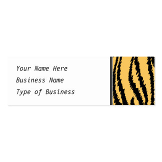 Modelo de la impresión del tigre. Naranja y negro Tarjetas De Visita Mini