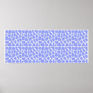 Modelo de la jirafa. Azul de cielo Impresiones