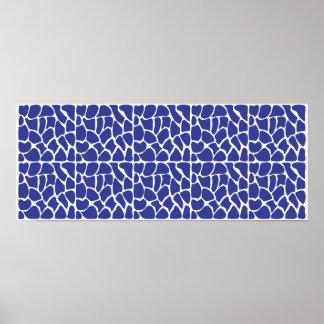 Modelo de la jirafa. Azul marino. Impresiones