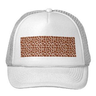 Modelo de la jirafa. Brown Gorras