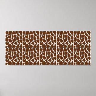 Modelo de la jirafa de Brown oscuro Posters