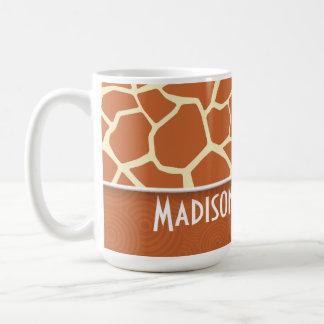 Modelo de la jirafa de Brown Tazas