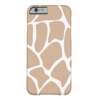 Modelo de la jirafa en beige funda de iPhone 6 barely there