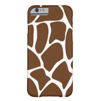 Modelo de la jirafa en Brown oscuro Funda De iPhone 6 Barely There