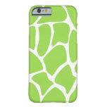 Modelo de la jirafa en verde de cal funda de iPhone 6 barely there
