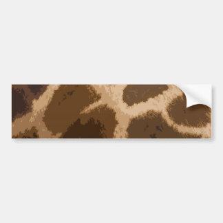 Modelo de la jirafa pegatina para auto