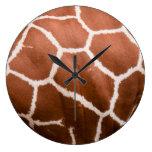Modelo de la jirafa relojes de pared