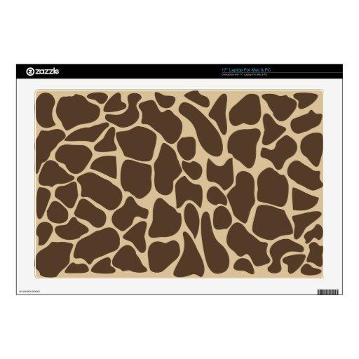 Modelo de la jirafa skins para portátiles
