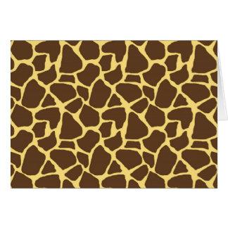 Modelo de la jirafa tarjeta pequeña