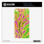 Modelo de la joya de GoldLeaf: Colores metálicos d Skins Para eliPhone 4S