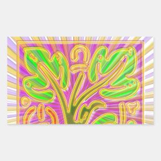 Modelo de la joya de GoldLeaf: Colores metálicos Pegatina Rectangular