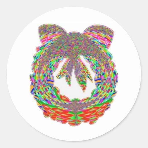 Modelo de la joya del diamante de la guirnalda por etiqueta redonda