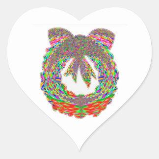 Modelo de la joya del diamante de la guirnalda por pegatina en forma de corazón