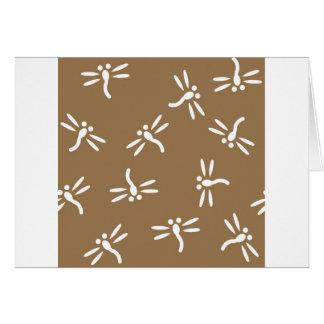 Modelo de la libélula tarjeta de felicitación