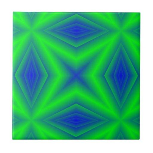 Modelo de la Línea Verde Azulejo Cuadrado Pequeño