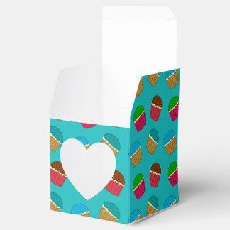 Modelo de la magdalena de la turquesa caja para regalo de boda