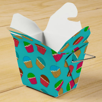 Modelo de la magdalena de la turquesa cajas para detalles de boda