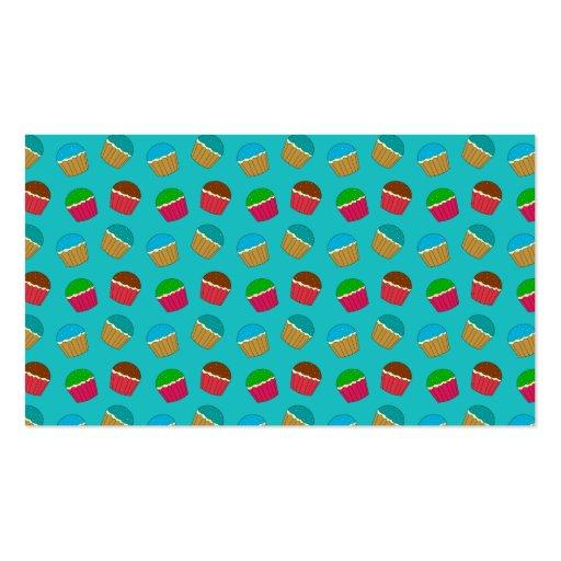 Modelo de la magdalena de la turquesa plantillas de tarjetas personales