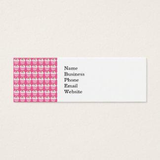 Modelo de la magdalena de las rosas fuertes del tarjetas de visita mini