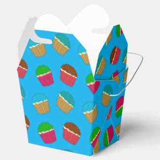 Modelo de la magdalena del azul de cielo cajas para regalos de boda