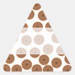 Modelo de la magdalena del chocolate calcomanías trianguladas personalizadas