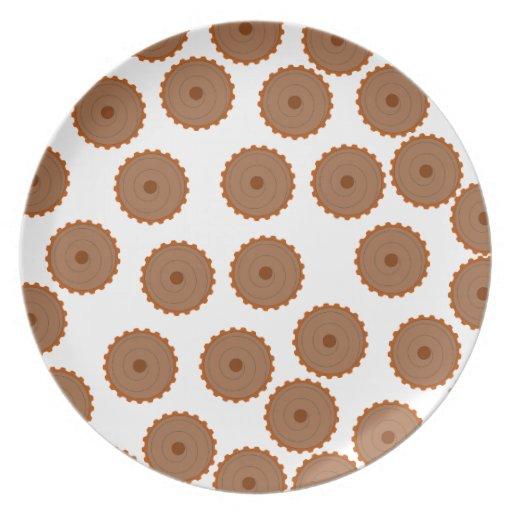 Modelo de la magdalena del chocolate plato de cena