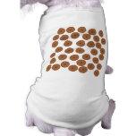 Modelo de la magdalena del chocolate camisetas de perro