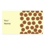 Modelo de la magdalena del chocolate tarjetas de visita