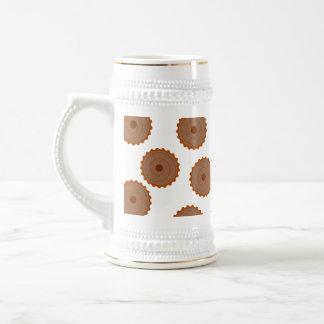 Modelo de la magdalena del chocolate jarra de cerveza